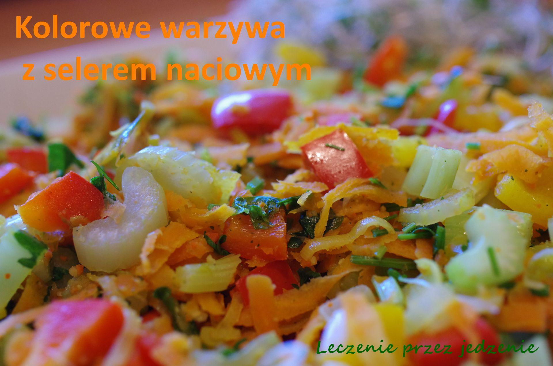 Kolorowe warzywa z selerem naciowym leczenieprzezjedzenie warszawa dietetyk