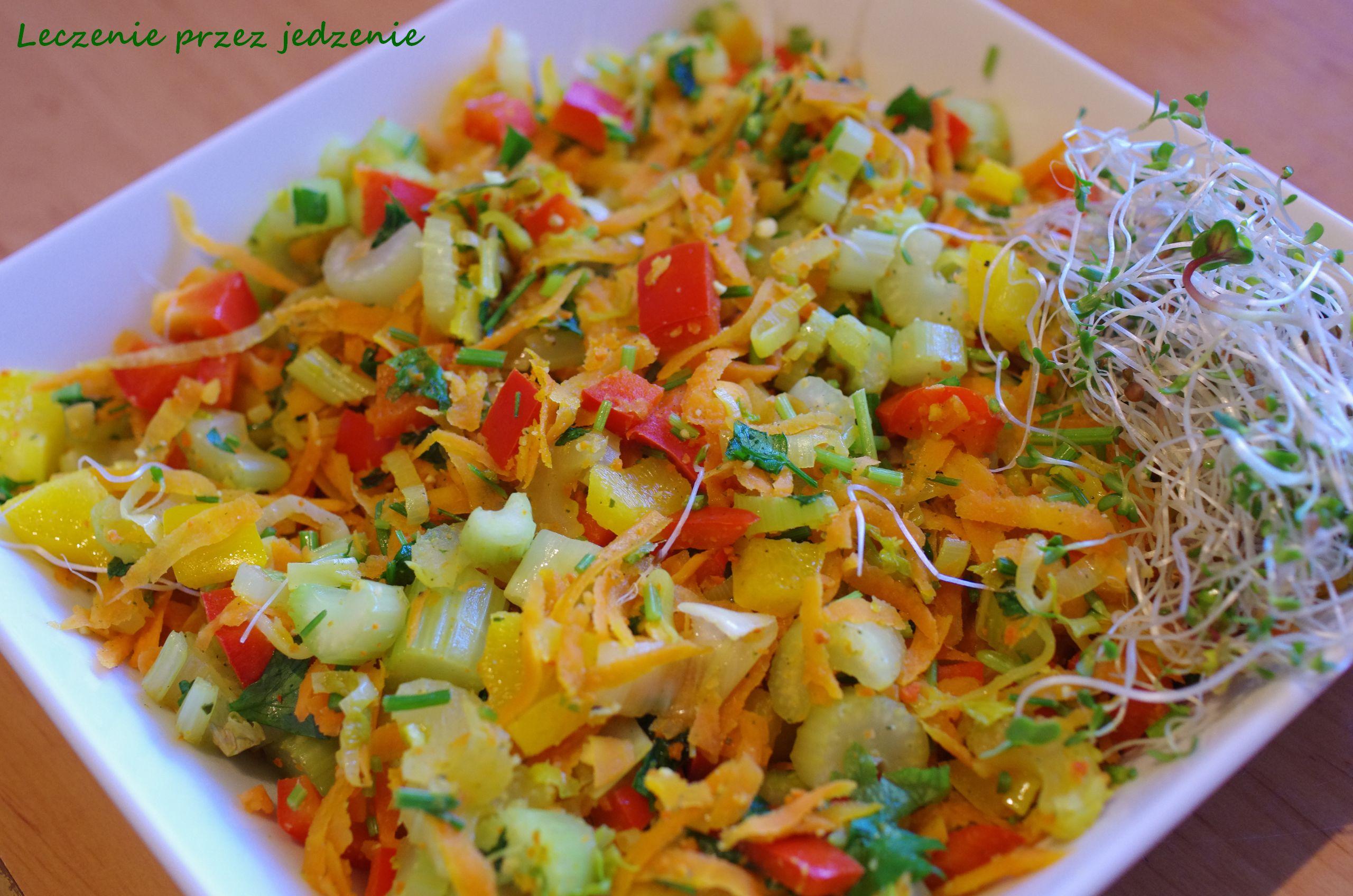 Warzywa duszone seler naciowy marchew, papryka leczenieprzezjedzenie warszawa dietetyk